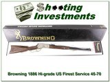 Browning 1886 Hi-Grade 45-70 Unfired!