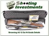 Browning A5 New Production Dekalb Hi-Grade 12 Ga