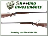 Browning 1885 RARE 45-90 BPCR 30in, case colored
