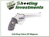 Colt King Cobra Stainless 6in 357 Magnum