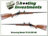 Browning Model 78 22-250 Heavy Barrel Exc Cond!