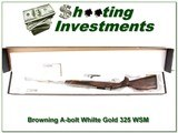 Browning A-Bolt White Gold Medallion 325 WSN NIB! - 1 of 4