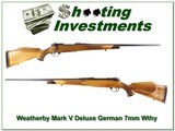 Weatherby Mark V German 7mm Wthy Mint! - 1 of 4