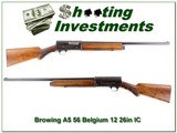 Browning A5 56 Belgium made 12 Gauge 26in IC