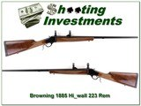 Browning 1885 Rare 223 High Wall 28in octagonal!