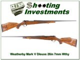 Weatherby Mark V Deluxe 26in 7mm Wthy Mag - 1 of 4
