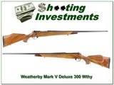 Weatherby Mark V Deluxe 300 26in nice wood!