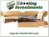 Ruger No.1 Red Pad 7x57 7mm Mauser in BOX! - 1 of 4