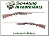 Remington 870 20 Gauge Exc Cond