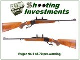 Ruger No.1 45-70 Pre-warning Red Pad Exc Cond! - 1 of 4