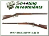 Winchester 1894 32-40 made in 1898