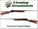 Browning A5 16 Gauge 1952 Belgium Exc Cond!
