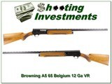 Browning A5 65 Belgium 12 Gauge Blond Vent Rib!