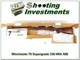 Winchester Model 70 Super Grade NRA.338 Win. In BOX!
