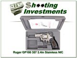 Ruger Talo GP100 2.5in Stainless 357 unfired in case!
