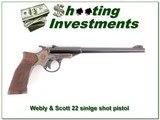 Webley & Scott 22 Single Shot Pistol collector! - 1 of 4