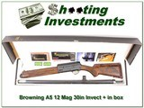 Browning A5 Magnum 12 30in Invector + ANIB!