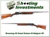Browning A5 Sweet Sixteen 53 Belgium Vent Rib!