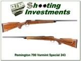 Remington 700 Varmint Special 243 pressed checkering