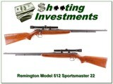 Remington 512 Sportmaster 22 with period Weaver