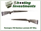 Remington 700 Stainless Laminate 257 Weatherby
