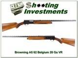 Browning A5 20 Ga 1960 Belgium made Vent Rib!