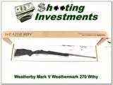 Weatherby Mark V Weathermark 270 Wthy Accubreak
