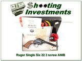 Older Ruger Single Six 3 Screw 22 LR & 22 Mag ANIB!