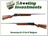 Browning A5 1957 Belgium 12 Ga Collector