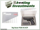 Sig Sauer P220 made in West German in box!