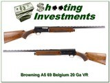 Browning A5 20 Ga 69 Belgium 26in IC VR collector!