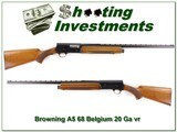 Browning A5 20 Ga 68 Belgium blond VR 26in IC