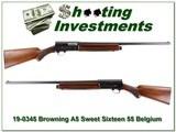 Browning A5 Sweet Sixteen 55 Belgium 2 barrels