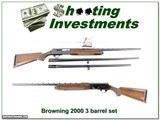 Browning 2000 75 Belgium 12 Ga 3-barrel set!