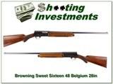 Early 1948 Belgium Browning Sweet Sixteen!
