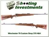 RARE Winchester Model 70 Custom Shop 375 H&H Engraved!