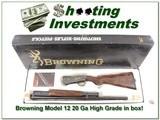 Browning Model 12 High Grade 5 20 Ga XX Wood ANIB