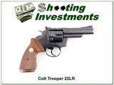 Colt Trooper in hard to find 22LR 4in blued