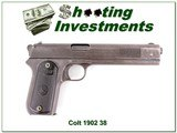 Colt 1902 Sporting 38 ACP made in 1904 all original! - 1 of 4