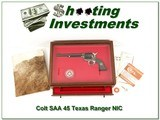 Colt SAA 45 7.5in Texas Ranger New in Display Case! - 1 of 4