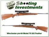 Winchester 70 pre-64 243 Win Featherweight