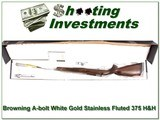 Browning A-bolt White Gold Medallion NIB Rare 375 H&H
