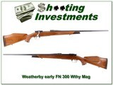 Weatherby early FN in 300 Weatherby 1958 collector!