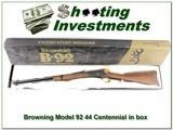 Browning Model 92 Centennial 44 rem mag NIB