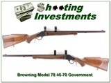 Browning Model 78 in 45-70 Government