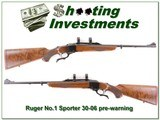 Ruger No.1 Sporter pre-Warning XX wood 30-06