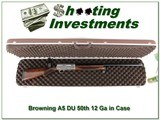 Browning A5 12 Gauge DU XX Wood in case - 1 of 4