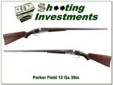 Parker VH 12 Ga Rare 1 ½ frame