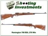 Remington 700 BDL 270 Win as new