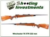 Winchester Model 70 XTR in rare 222 Remington!